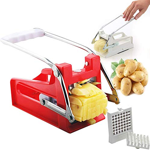 QYHSS Kartoffel Chopper Cutter, Pommes Frites Cutter, mit 2 Super Edelstahl...
