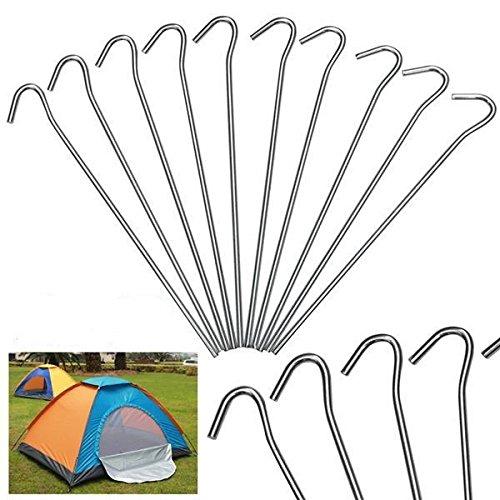 Yaheetech 50 x Zeltheringe Zeltnagel Erdnägel Heringe 20 cm für Zelt aus...