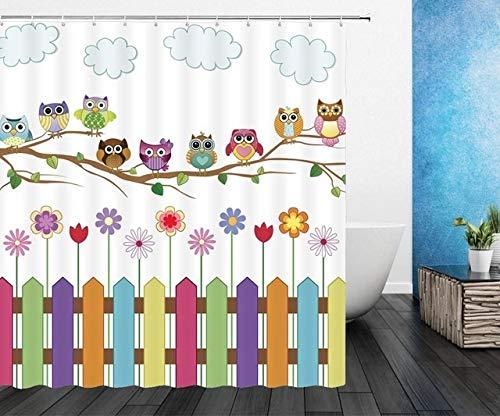 Yqs Duschvorhang Cat Duschvorhänge Duschvorhang Nette 3D-Gewebe Duschvorhang...