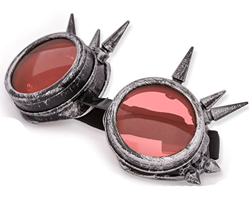 4sold (TM Steampunk Antique Copper Cyber Goggles Rave Goth Vintage Victorian...