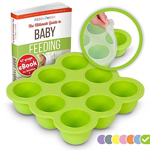 KIDDO FEEDO Silikon Babynahrung Aufbewahrung Behälter Zum Einfrieren Babybrei...