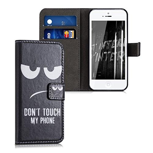 kwmobile Wallet Case kompatibel mit Apple iPhone SE (1.Gen 2016) / 5 / 5S -...