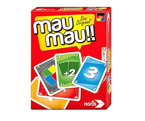 Noris 606264441, Mau Mau, das weltbekannte Kartenspiel mit einem originellen...
