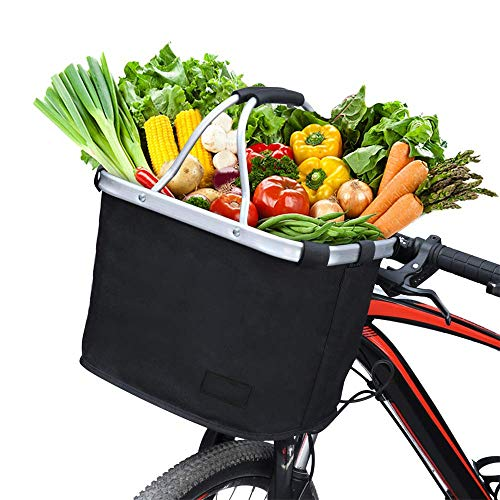 YSYDE Faltbarer Fahrradkorb Mehrzweck Fahrradgriff Korb für Transportbox...