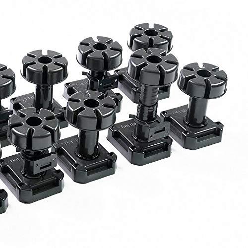 20 x verstellbare Stellfüße Sockelfüße 125-195 mm | mit 5 Stück...