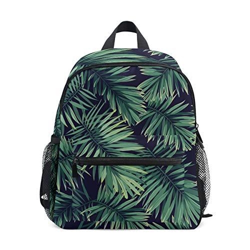 Kleine Schultasche Tropische grüne Blätter Pflanze Rucksack für Mädchen...