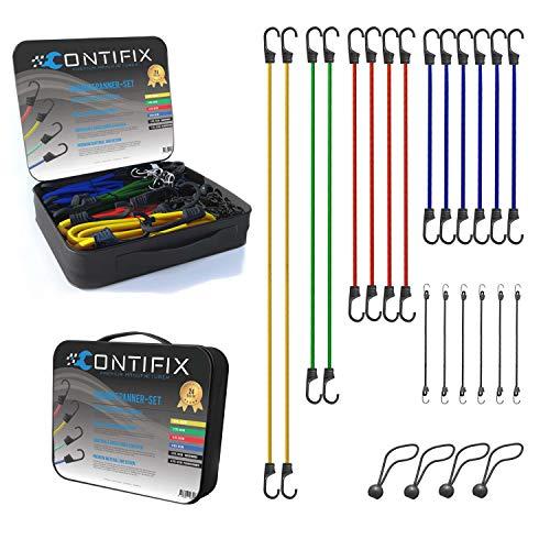 CONTIFIX Premium Gepäckspanner Gummispanner - 24-teiliges universal Spanner...