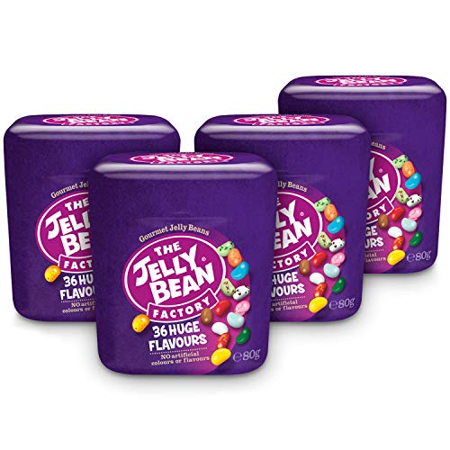 The Jelly Bean Factory 36 Gourmet Flavours 80 g Cup – 4er Pack | Gourmet Jelly...