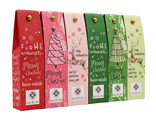 Leo & Lilo Kleiner Weihnachtsgruß, Geschenkset mit 6 Handcremes in zauberhafter...