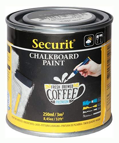 Securit Tafellack, wasserbasierende schwarze Acryl Tafelfarbe mit Kreide und...