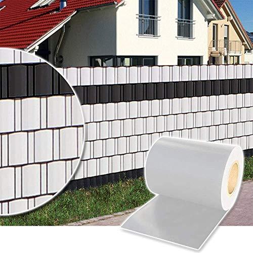 Zueyen Sichtschutzstreifen PVC Doppelstabmatten Sichtschutzfolie Zaun Gartenzaun...