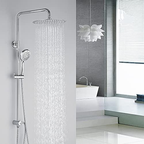Homelody Duschsystem Duschsäule Duschset Höhenverstellbar Duschstange mit...