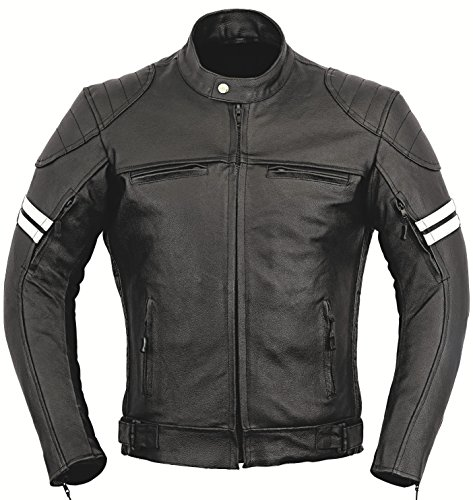 GearX Franklin Leder Motorrad Jacke Motorradfahrer Männer Schutz Mantel -...