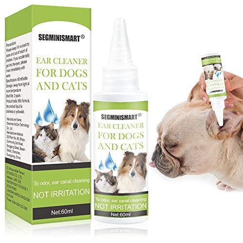 SEGMINISMART Ohrenreiniger für Hunde und Katzen, Lösung zur Ohrenpflege und...