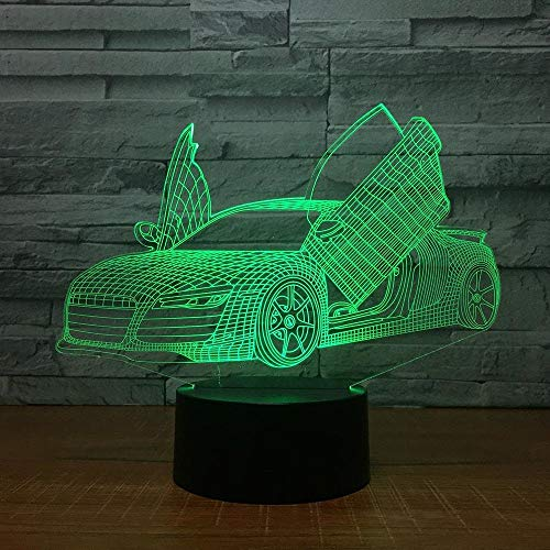 Multi Choice Cool Sport Auto Auto 3D Nachtlicht Neuheit 7 Farben Ändern LED...