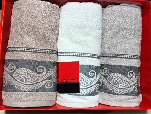 P.CARDIN 3+3 Handtücher (3 große + 3 Gästehandtücher) Marke Art. Laura