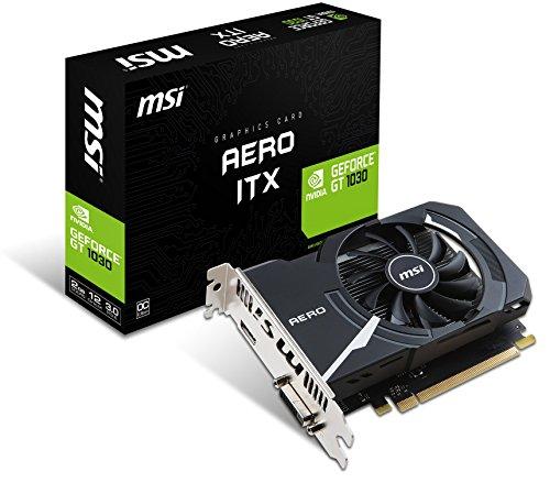 MSI GeForce GT 1030 Aero ITX 2G OC 2GB Nvidia GDDR5 1x HDMI, SL-DVI-D, 2 Slot...