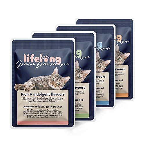 Amazon-Marke: Lifelong Getreidefreies Nassfutter für ausgewachsene Katzen...