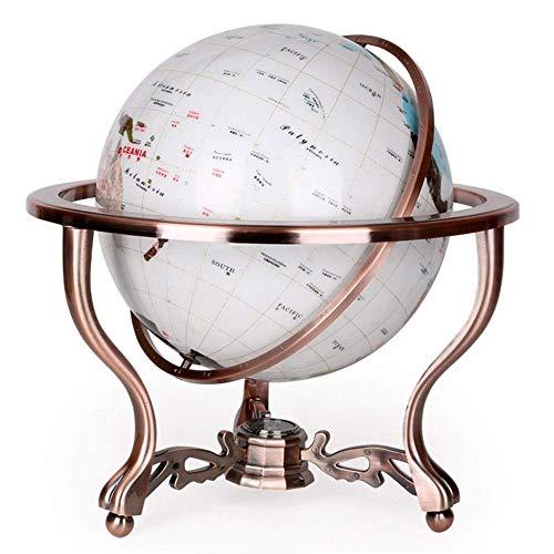 BGSFF Großer Vintage World Globe Antiker Globus Bildungsgeografisch mit Kompass...