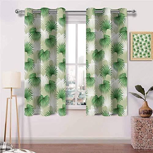Vorhangpaneel mit Ösen, tropisch, exotisch, Bananenwald, Palme, Blätter,...
