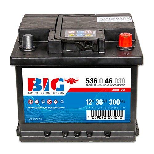 BIG +30 Silver Edition 12V 36Ah 300A/EN DIN 53646 Autobatterie