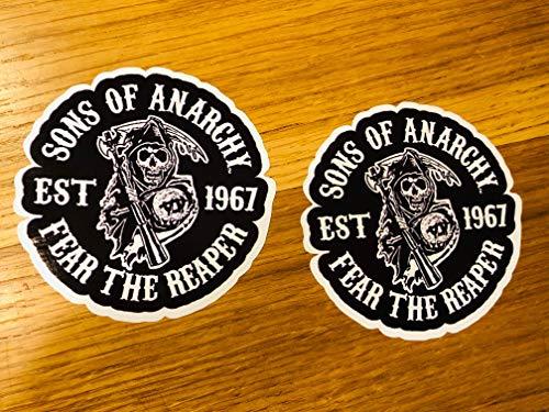 2X SONS of Anarchy Aufkleber Sticker Chopper Club MC SOA Samcro 1% Chopper Se46