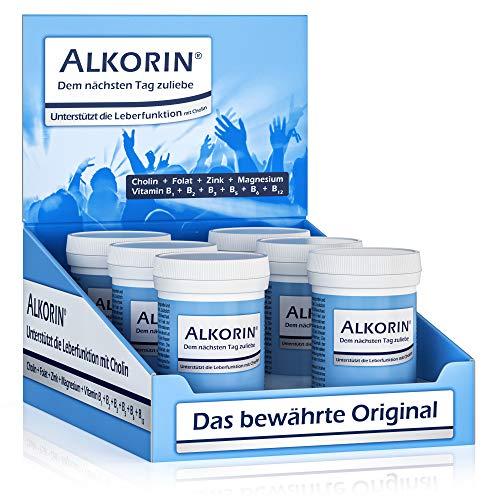 ALKORIN® dem nächsten Tag zuliebe. Unterstützt die Leberfunktion mit Cholin....
