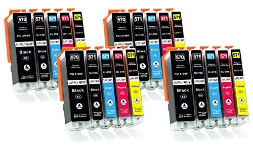 Supply Guy 20 XL Druckerpatronen kompatibel mit Canon PGI-570 CLI-571 für...