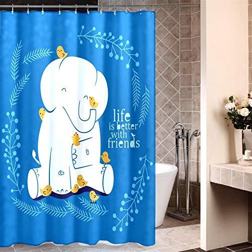 XTUK Home Decor Blau Einfach Niedlich Cartoon Badezimmer Vorhänge Waschbare...