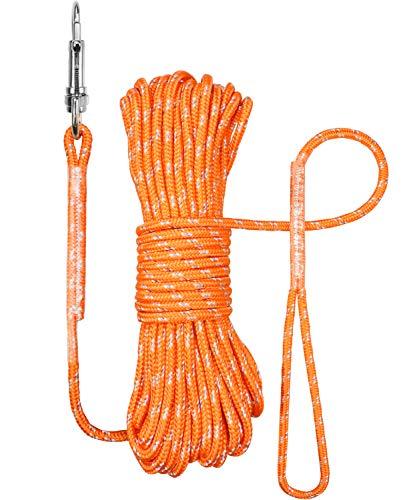 TagME Reflektierend Schleppleine für Kleine Hunde,Seil Hundeleine 10M,Orange