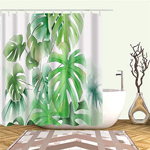 KTTO African Leaves Prints Bad Duschvorhänge Wasserdichter Bildschirm für...