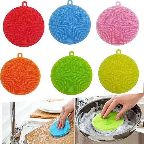 Silikon-Schwämme für Geschirr, Küche, Multifunktions-Spülbürste,...