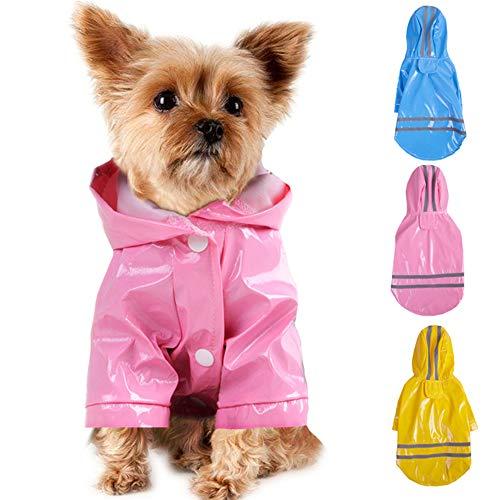 Smoro Im Freienwelpen Haustier Regenmantel mit Hauben Wasserdichten Jacken PU...