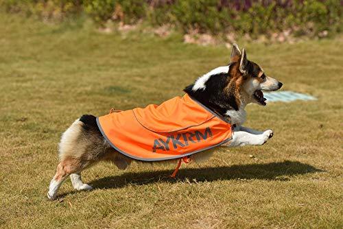 AYKRM Hundemantel, wasserfest, hohe Sichtbarkeit, Hundeweste mit Doppeldeckel,...
