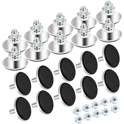 CODIRATO 20 Stück Verstellbare Möbelfüße Metall Möbelbeine M8 x 40mm...
