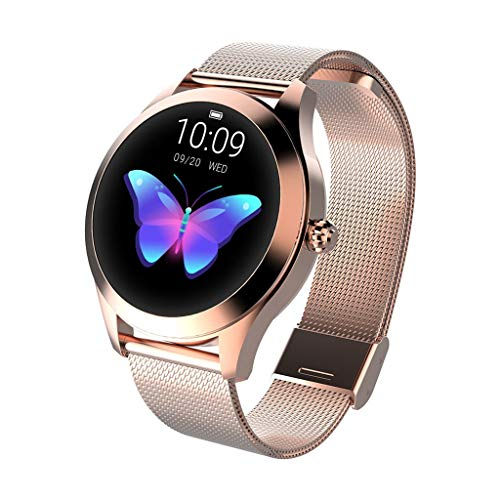 CUEYU Smart Watch KW10,Runder Touchscreen IP68 wasserdichte Smartwatch für...
