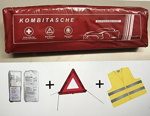 PKW KFZ Verbandkasten Verbandtasche Warndreieck Warnweste Erste Hilfe...