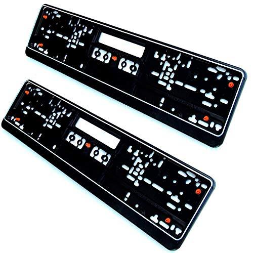 2 x Nummernschildhalterung Auto Kennzeichenhalter anti-Vibration mit Gummi...
