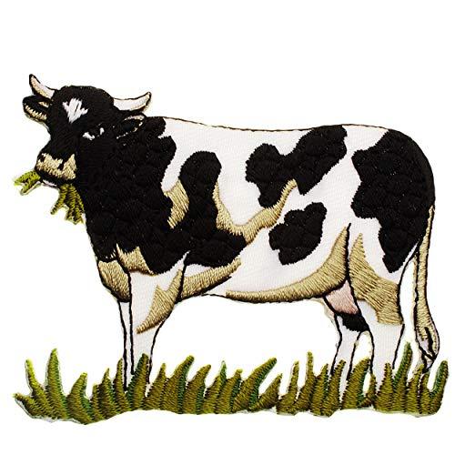 alles-meine.de GmbH 2 Stück _ Bügelbilder - Kuh auf der Wiese - 7,8 cm * 6,5...