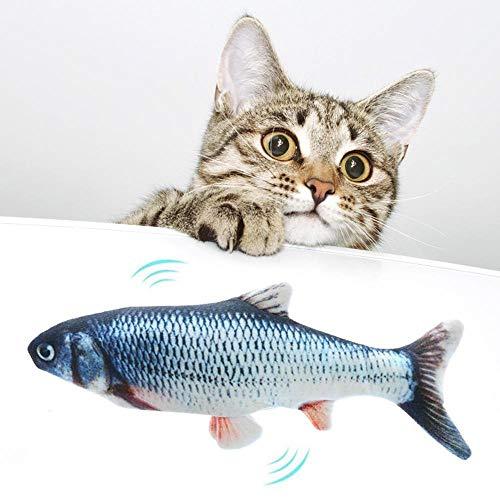 Womdee Elektrische Fische Katze, USB Elektrische Plüsch Fisch Kicker...