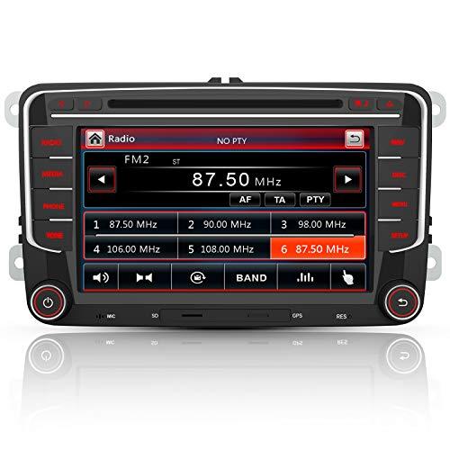 AWESAFE Radio mit Navi für VW Golf Skoda Seat, 2 DIN Autoradio mit Bluetooth...