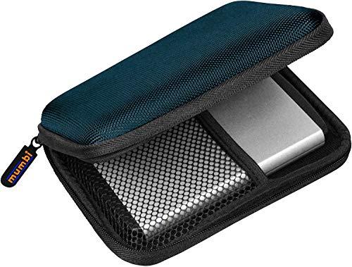 mumbi Externe Festplattentasche bis 6,35 cm (2,5 Zoll) blau