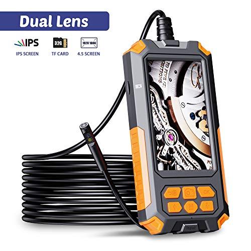 ILIHOME Dual Kameras Endoskopkamera, Doppelkamera Dual Lens 4,5 Zoll IPS...