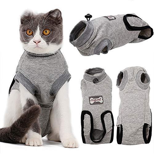 BVAGSS Haustier Katzen Recovery Sterilization Suit Atmungsaktives E-Collar...