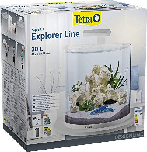 Tetra AquaArt Explorer Line Aquarium-Komplett-Set 30L, Weiß