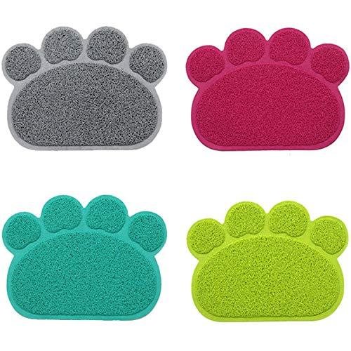 Fostudork Hundenäpfe Mat Groß, Paw Dog Cat Litter Mat Welpen Kitty Dish...