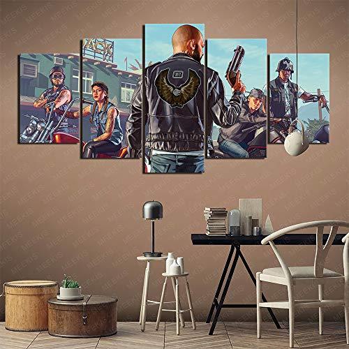 Airxcn Neues Hausgeschenk Grand Theft Auto GTA Leinwand Wandkunst Bilder 5...
