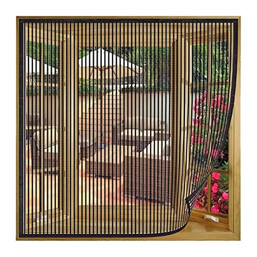 Fliegengitter Fenster Insektenschutz, 130x200cm(Schwarz), Mückengitter Durable...