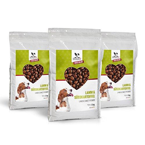 DOGS-HEART Lamm& Süßartoffel 3x5kg - Hundefutter trocken Getreidefrei mit...
