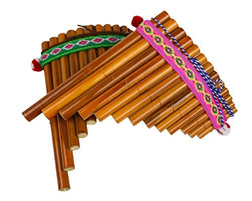 Sunny Times - Panflöte, Kinder Musikinstrument, 13 Rohre Indianer Peru,...